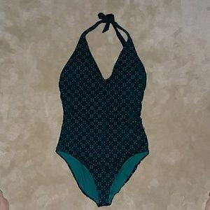 Loft Beach Perforated Halter Swimsuit Size 12